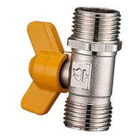 Copper Gas Fuel Ball Valve Double outer thread gas valve