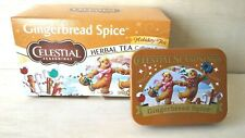 Celestial Seasonings Gingerbread Spice Holiday Herb Tea with  Collectible Tin