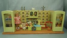 Antique c1920's German Wooden Grocery Store Counter & Accessories Dollhouse