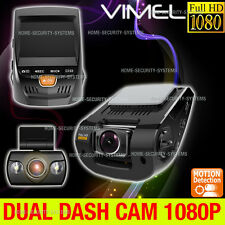 Dual Dash Camera In Car Recorder Twincam CrashCam Blackbox FULL HD 1080