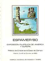 DOCUMENTO FILATELICO F.N.M.T. Nº 12 ESPAMER 80