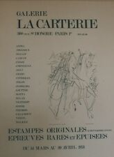 """""""DALI: LADY GODIVA (EXPO LA CARTERIE 1974)"""" Affiche originale entoilée"""