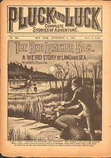 dime novel; PLUCK AND LUCK #170: The Red Leather Bag; a Weird Story of Land and