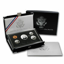 1997 Premier USA Silver Proof Set - Mint in Box with COA