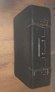 Vintage Leather Suitcase Sudhaus 1950's Antique
