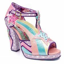 Irregular Choice 'Eres Hermosa' (A) Pink High Heel Peep Toe Shoes EU 39 / UK 6