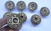 Lot 8 Vintage Solid Brass Round Pull handles 1 3/4''