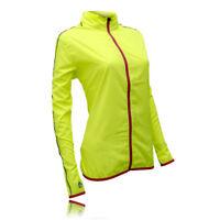 Higherstate Lightweight Womens Pink Yellow Running Sports Zip Jacket Top