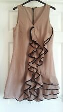 BEAUTIFUL VERA MODA TAUPE DRESS SIZE SMALL