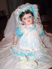 "Dee Hall 25"" Porcelain Baby Doll *pre-owned *1994"