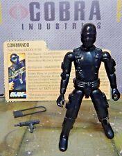 GI JOE ~ 1982 SNAKE EYES ~ STRAIGHT ARM COMMANDO ~ NINJA ~ 100% & file card 1983
