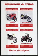 Chad 2019 MNH Classic Motorcycles Ducati Manx Norton 4v IMPF M/S Motos Stamps