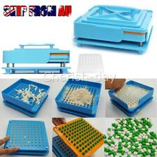 100 Holes Food Grade 0# Pill Capsule Filler Filling Machine Flate Tool Set AU