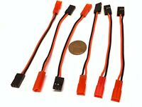 6 Pieces JST Female JR Futaba Servo Male Connector Adapter Cable RC Battery A13