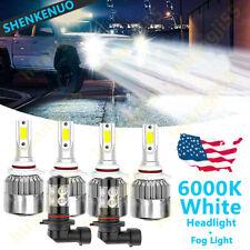 6X LED Headlight+ Fog Light Bulb C6 For Chevy Silverado 1500 2500 3500 2003-2006