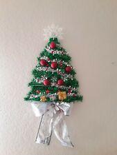 Christmas Tree Wall Window  Door Hanging Decor red silver color wreath  Decor