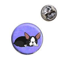 Sleepy Boston Terrier Lapel Hat Tie Pin Tack