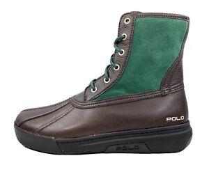 $150 Polo Ralph Lauren Declan Duck Boots Brown / Green Men's Size 9