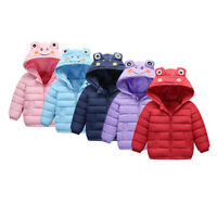 Toddler Kids Baby Boy Girl Fashion Jacket Warm Thick Cartoon Animal Hooded Coat