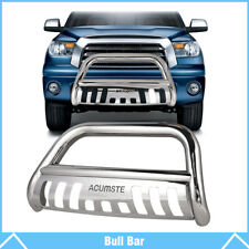 Chrome Bull Bar Push Bumper Grille Grill Guard For 2016 - 2018 Toyota Tacoma