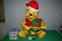 "GEMMY Disney 3Ft AIRBLOWN ""WINNIE THE POOH"" Christmas Inflatable Yard Decoration"