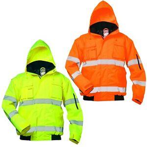 Arbeitsjacke Warnschutzjacke Pilotenjacke Winterjacke Warnjacke 2 in1 Regenjacke