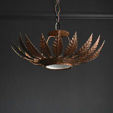 Mid Century Naturalistic Chandelier Light Original Vintage Pendant