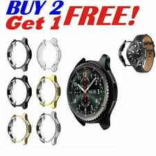 Soft TPU Bumper Protector Cover For Samsung Galaxy Watch 3 45mm 41mm Frame Case