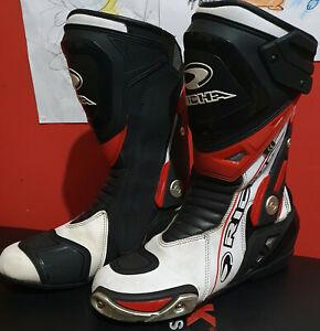 RICHA BLADE WATERPROOF MOTORCYCLE BOOTS RED WHITE BLACK SIZE 7 UK 41