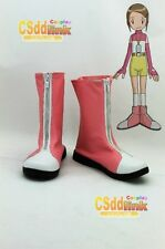 Digimon Adventure KARI cosplay shoes boots Pink