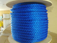 "ANCHOR ROPE,DOCK LINE 5/16"" X 100' 12 strand Pacific BLUE MADE IN USA"
