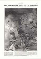 1905 F Matania Earthquake Disaster In Calabria Nettie Fitt
