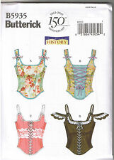 Historical Renaissance Boned Lace Up Corsets Sewing Pattern Size 4 6 8 10 12