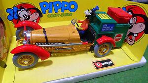 BUGATTI PIPPO GOOFY DINGO Walt Disney 1/18 BURAGO 8005 voiture miniature collect