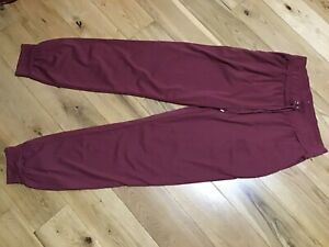 """Primark Ladies Dark Pink Cuffed Casual Trousers Joggers Size S, L28"""""""