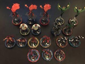 Heroclix Spiderman Allies And Enemies Lot Of 18 Bullseye Hobgoblin Kingpin More