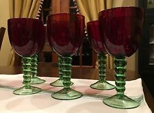NWT Gorgeous Red And Green Wine Glass Goblet Foreside Christmas Stemware