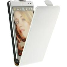 Artificial Leather Case for LG Optimus L9 - Flip-Case white + protective foils