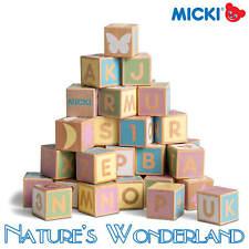 ALPHABET BLOCKS Pastel Wooden Classic Toy- Micki Leksaker manufactured Ethically