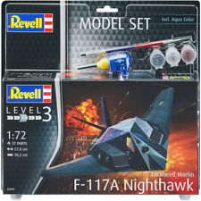 Revell 63899 Lockheed Martin F-117A Nighthawk Model Kit with Paints Scale 1:72