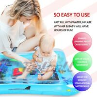 Inflatable Baby Play Water Mat Novelty for Kids Children Infants Tummy Time USA