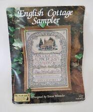 Vintage English Cottage Sampler Counted Cross Stitch Kit w/linen T. Wentzler