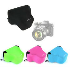 Neoprene Soft Camera Bag Case Cover Pouch For Fujifilm XT1 X-T1 18-55mm Lens