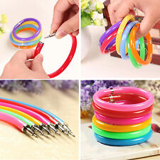 GD 10 Pcs Novelty Ballpoint Pens Wristband Bangle Bracelet Colorful Hot New