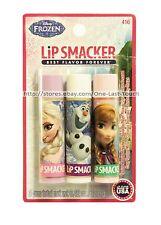 Lip Smacker* 3pc Balm/Gloss Disney Frozen Collection Set Elsa+Anna+Olaf #416 1a
