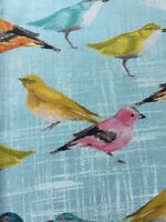 RPE782 Birds Finches Sparrows Laura Gunn Birdies Spring Cotton Quilting Fabric