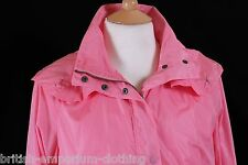 Aquascutum Pink REMOVABLE Hooded Raincoat Coat Mac Uk12 BNWoT