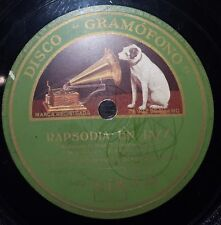 JAZZ 78 rpm RECORD Gramofono ORQ PAUL WHITEMAN Gershwin PIANO Rapsodia en Jazz