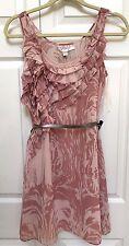 LC LAUREN CONRAD Secret Garden Dusty Pink Sleeveless Chiffon Ruffle Dress  4