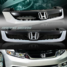 MODULO BLACK/CHROME ABS FRONT HOOD BUMPER GRILLE GRILL FIT 12 HONDA CIVIC 4-DR
